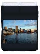 Baltimore Inner Harbor Sunrise Duvet Cover