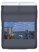 Baltimore Maryland Inner Harbor Duvet Cover