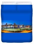 Baltimore Skyline Panorama At Dusk Duvet Cover