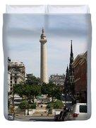 Baltimore Streetscene Duvet Cover