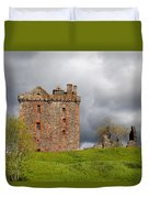 Balvaird Castle Ruins Scotland Duvet Cover