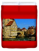 Bamberg Townhall - Germany H A Duvet Cover
