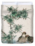 Bamboo And Chicken Duvet Cover