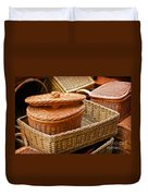 Bamboo Baskets Duvet Cover