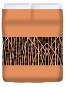 Bamboo Forest At Night Duvet Cover