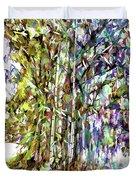 Bamboo Trees In Park Duvet Cover