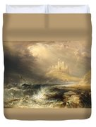 Bamborough Castle Duvet Cover by Willliam Andrews Nesfield