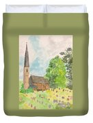 Bamford Church And Serenity Of Nature Duvet Cover
