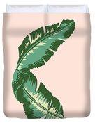 Banana Leaf Square Print Duvet Cover by Lauren Amelia Hughes