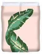 Banana Leaf Square Print Duvet Cover