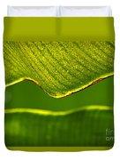 Banana Leaf Lines Duvet Cover