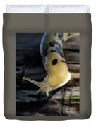 Banana Slug Closeup Duvet Cover