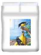 Bananaquits And Bananas Duvet Cover