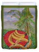 Bananas On A Plate Duvet Cover