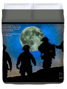 Band Of Brothers - Oil Duvet Cover