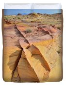 Band Of Gold In Valley Of Fire Duvet Cover