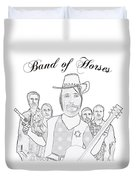 Band Of Horses Duvet Cover