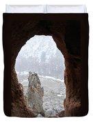 Bandelier Indian Ruins Duvet Cover