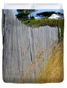 Bandon Beach Fence Duvet Cover