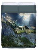 Mount Cory, Banff Duvet Cover