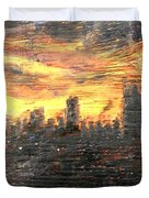 Bangkok City Sunset Glow Duvet Cover