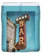 Bank Bar Duvet Cover