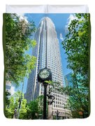 Bank Of America Corporate Center In Charlotte, Nc Duvet Cover