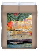 Bank Of The Gauley River Duvet Cover