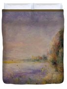 Banks Of The River 1876 Duvet Cover
