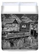 Bannack Extended Parking Black And White Duvet Cover