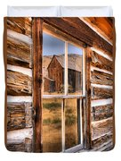 Bannack Reflection In The Past Duvet Cover