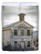 Bannack Schoolhouse And Masonic Temple Duvet Cover