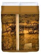 Bannack Wagon Reflections Duvet Cover