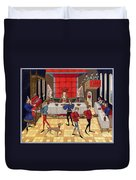 Banquet, 15th Century Duvet Cover
