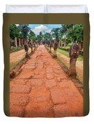 Banteay Srei Red Sandstone Road - Cambodia Duvet Cover