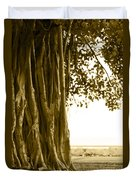 Banyan Surfer - Triptych  Part 2 Of 3 Duvet Cover