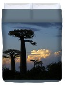 Baobabs And Storm Clouds Duvet Cover