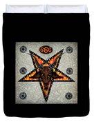 Baphomet - Satanic Pentagram - 666 Duvet Cover
