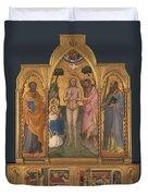 Baptism Altarpiece Duvet Cover