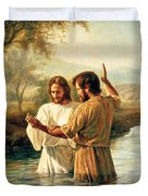 Baptism Of Christ Duvet Cover by Greg Olsen