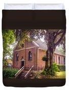 Baptist Church In Giethoorn. Netherlands Duvet Cover
