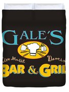 Bar And Grill Sign Duvet Cover