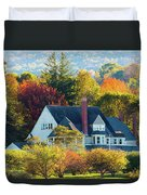 Bar Harbor Autumn House Duvet Cover