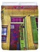 Bar Scene French Quarter New Orleans Duvet Cover