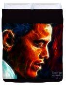 Barack Obama Duvet Cover by Pamela Johnson