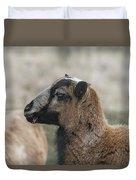 Barbados Blackbelly Sheep Profile Duvet Cover