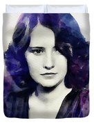 Barbara Stanwyck, Vintage Actress Duvet Cover