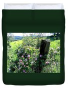 Barbed Wire And Roses Duvet Cover