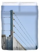 Barbed Wire Fence Duvet Cover