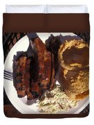 Barbeque Ribs Dinner At Sonny Bryans Duvet Cover